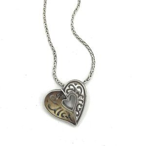 Brighton Heart with Bone Shell Necklace #110